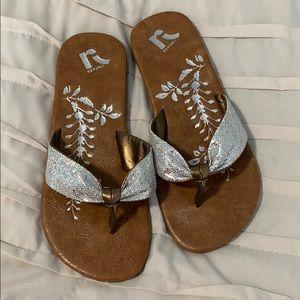 Flip flop-silver